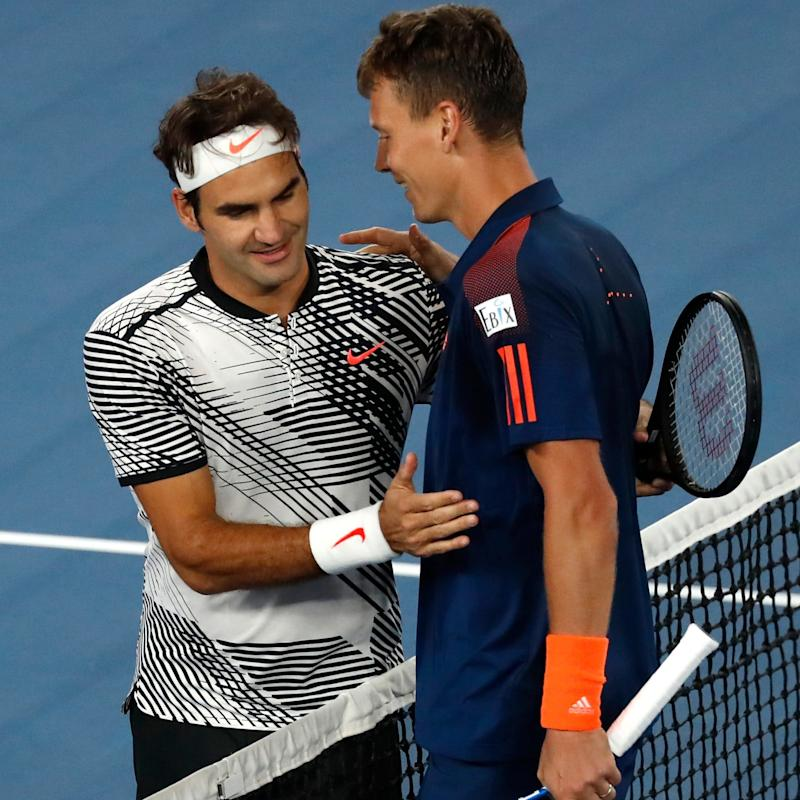 Berdych lost to Federer