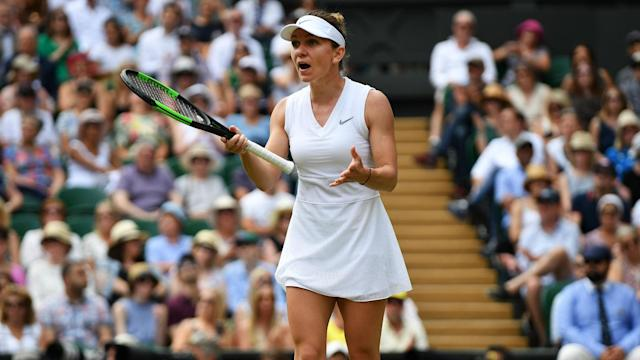 Simona Halep has a new-found love for the green grass at Wimbledon, but she has yet to get her head around snooker's green baize.