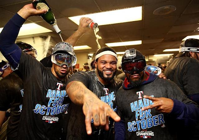 Prince Fielder will be a source of inspiration for the Rangers this postseason. (Getty Images)
