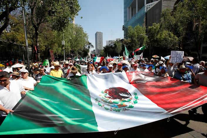 Mexico City: The rally took place on Sunday in retaliation to Trump's policies (REUTERS)