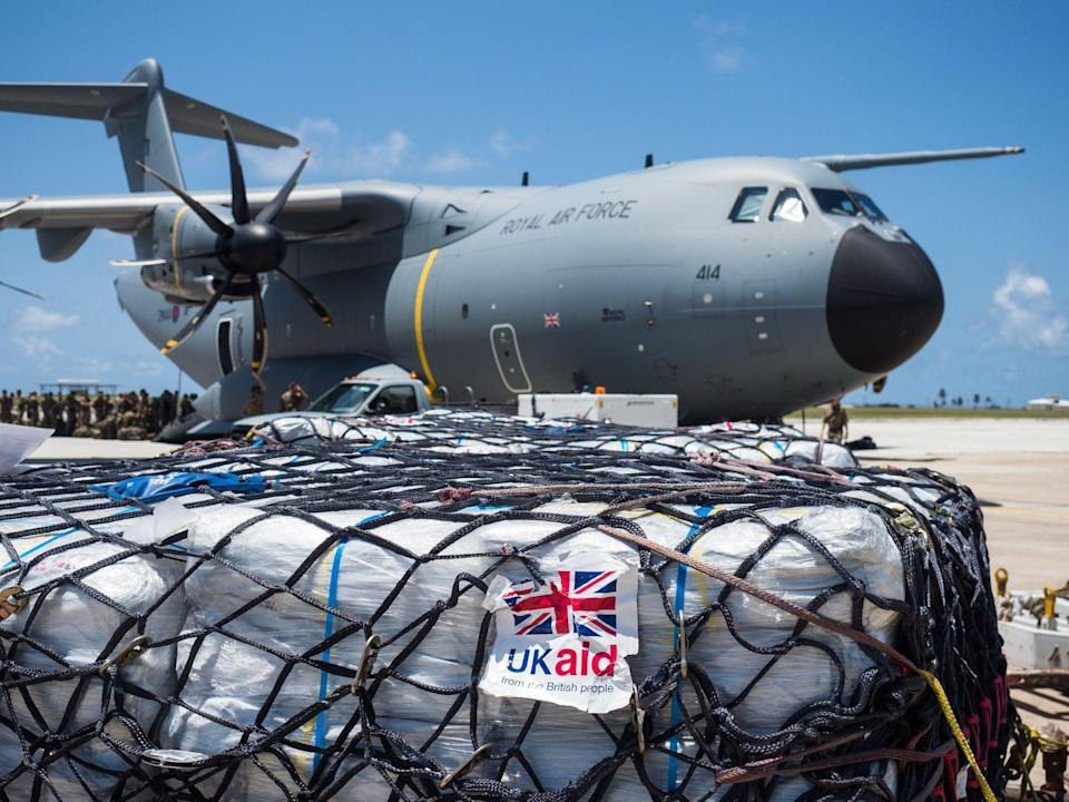 Aid being delivered to the Caribbean islands stricken by Hurricane Irma (Andy Wasley/MoD/Crown Copyright/PA) (PA Media)