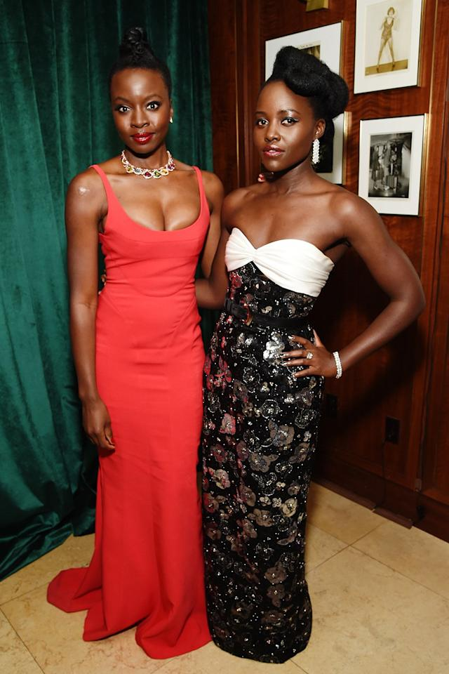"<em>Black Panther </em>costars Danai Gurira and Lupita Nyong'o really meant it when they said, ""Wakanda forever!"""