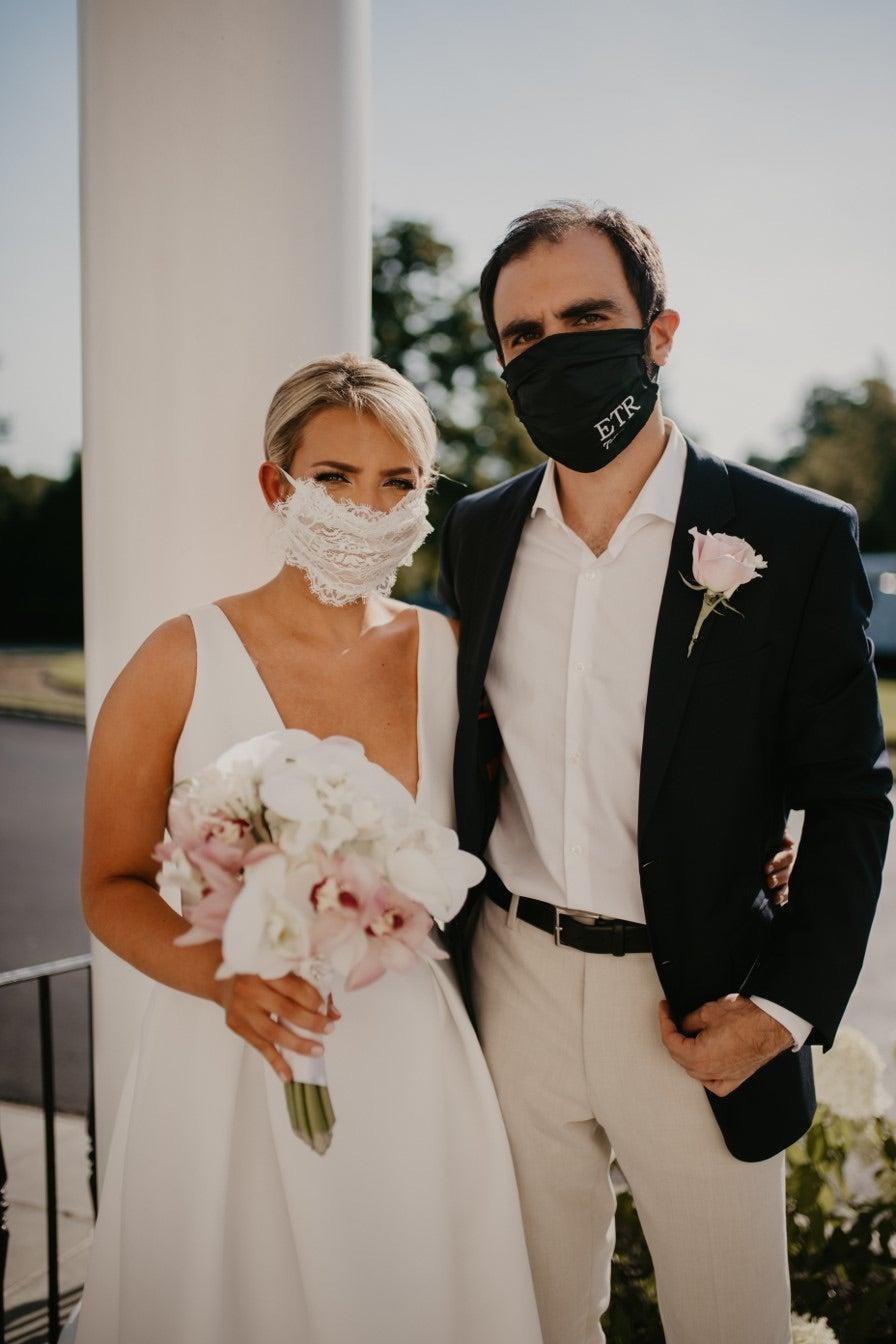 """<strong>Caroline Rubin, New York, New York</strong><br><br>""""I chose my wedding dress because it was simple yet elegant and perfect for our smaller, intimate ceremony with close friends and family. I originally went into the process of finding a new dress in the middle of a pandemic with the mindset that this was going to be one of the most stressful things to deal with in regards to wedding planning. I could not have been more wrong. Amsale's new Little White Dress collection had so many styles to choose from, with dresses available for all body types, so I knew I was bound to find one that I would love as much as my original wedding dress. The dresses I ordered took about 10 weeks to arrive — which was four weeks until my wedding date — which gave me just enough time to go through one round of alterations.""""<span class=""""copyright"""">Photography by: Mackenzie Williams.</span>"""