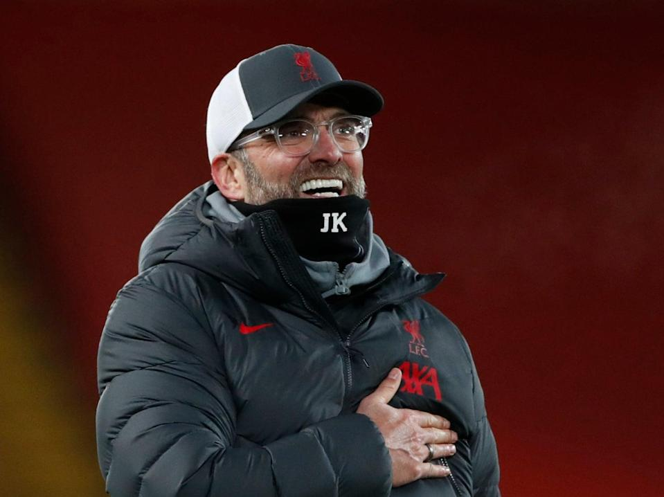 Liverpool coach Jurgen Klopp will be relieved by the recoveries of his injured players (Getty Images)
