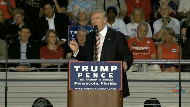 Rnc Live Trump Puts Lid On Lock Her Up Chant: TRUMP: Hillary Clinton Could 'shoot Somebody With 20,000