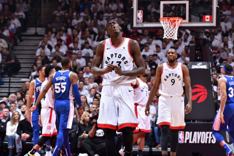 c77d27431386 Pascal Siakam and the Raptors dominated the Sixers in Game 5. (Getty Images)