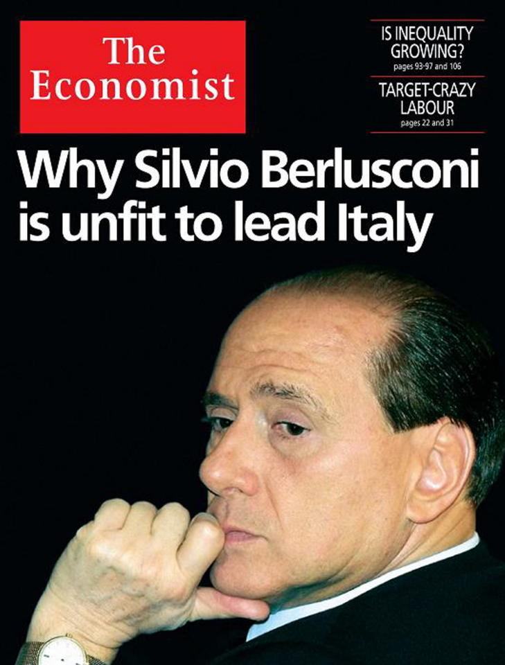 Perchè Berlusconi non è adatto a guidare l'Italia (The Economist)
