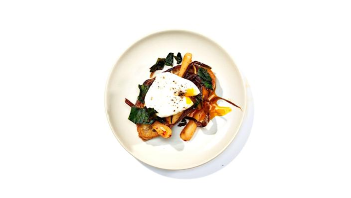 """<a href=""""https://www.bonappetit.com/recipe/toast-with-ramp-kimchi-and-poached-eggs?mbid=synd_yahoo_rss"""" rel=""""nofollow noopener"""" target=""""_blank"""" data-ylk=""""slk:See recipe."""" class=""""link rapid-noclick-resp"""">See recipe.</a>"""