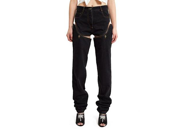 "Y/Project Detachable Cut-Out Side Jeans, $460, <a href=""https://www.openingceremony.com/womens/y_project/washed-cut-out-detachable-short-jeans-ST96198.html"" rel=""nofollow noopener"" target=""_blank"" data-ylk=""slk:OpeningCeremony.com"" class=""link rapid-noclick-resp"">OpeningCeremony.com</a>"