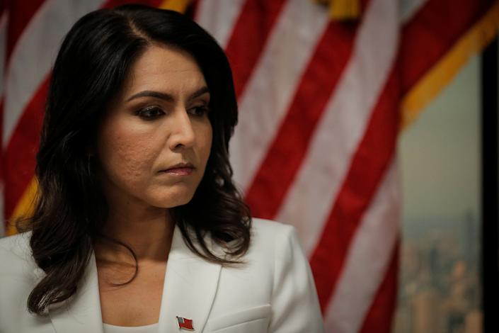 Rep. Tulsi Gabbard speaks during a news conference at the 9/11 Tribute Museum in New York City on Oct. 29, 2019. (Photo: Brendan McDermid / Reuters)