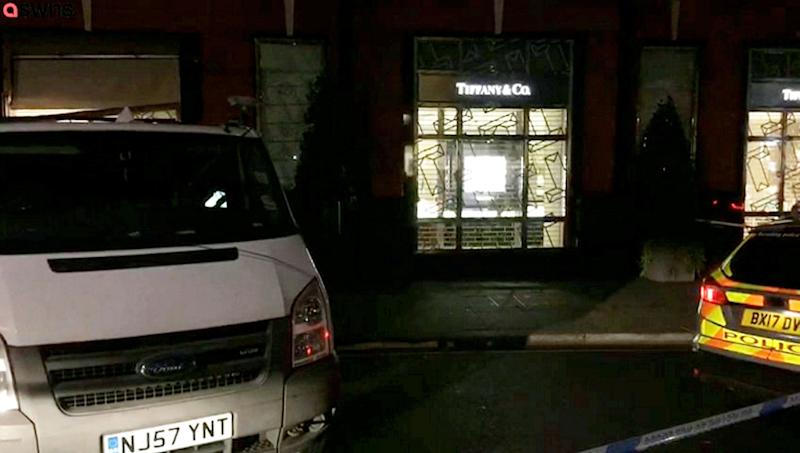 Police were called to reports of the smash-and-grab raid just before 3am on Friday (Picture: SWNS)