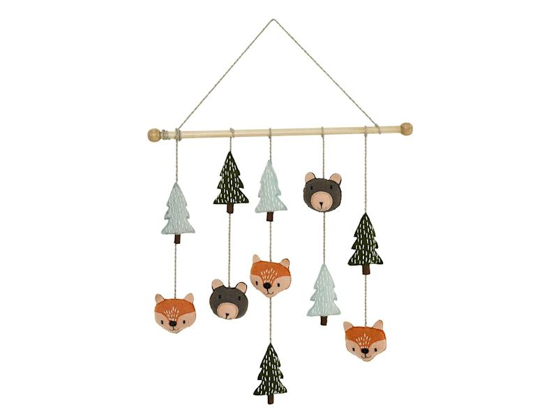 A woodland animal hanging mobile will keep little ones entertained and add the perfect finishing touch to a nursery (Great Little Trading Company)