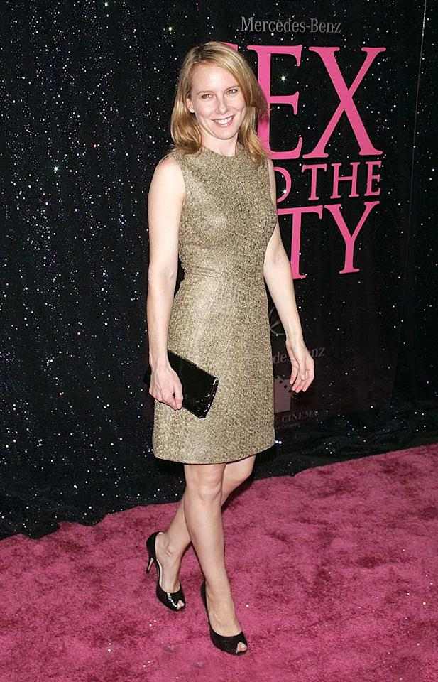 """Oscar nominee Amy Ryan (""""Gone Baby Gone"""") paired her metallic dress with black pumps and a cute clutch. Jim Spellman/<a href=""""http://www.wireimage.com"""" target=""""new"""">WireImage.com</a> - May 27, 2008"""