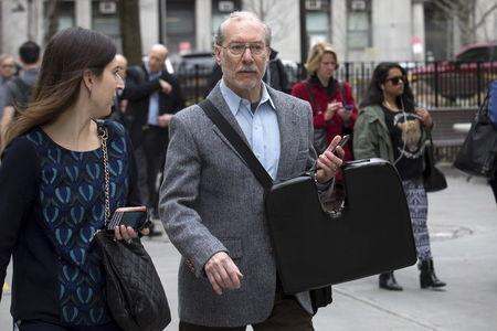 Stanley Patz, father of Etan Patz, arrives at the state Supreme Court in the Manhattan borough of New York April 13, 2015. REUTERS/Brendan McDermid