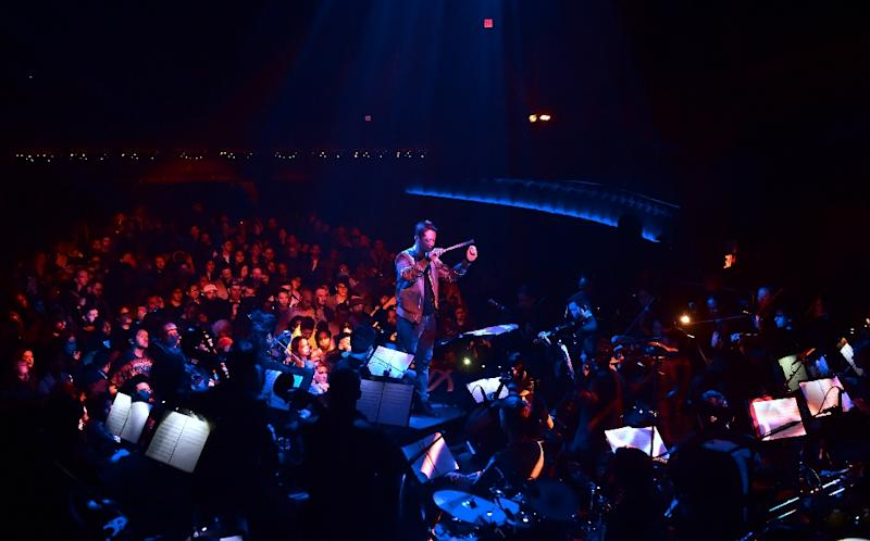 Yuga Cohler leads the Young Musicians Foundation Debut Chamber Orchestra during a performance of the second edition of Yeethoven, a mashup of Beethoven and Kanye West