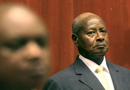 Uganda's President Yoweri Museveni prepares to deliver his state of the nation address in capital Kampala
