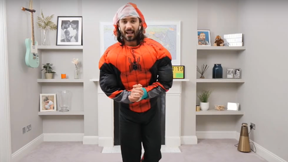 Screengrab from Joe Wicks' YouTube