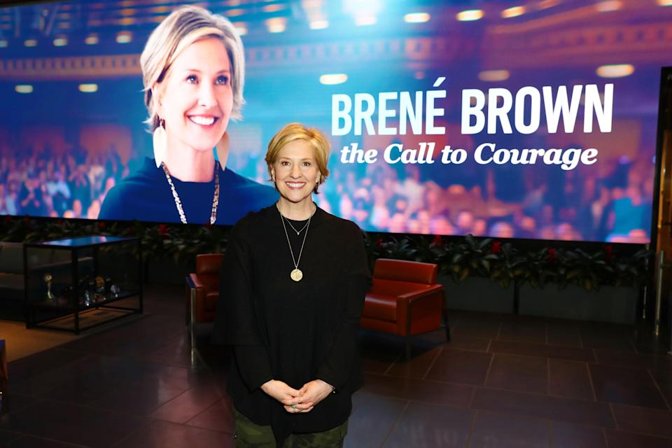 Brené Brown shares advice for navigating the current crisis. (Photo: Joe Scarnici/Getty Images for Netflix)