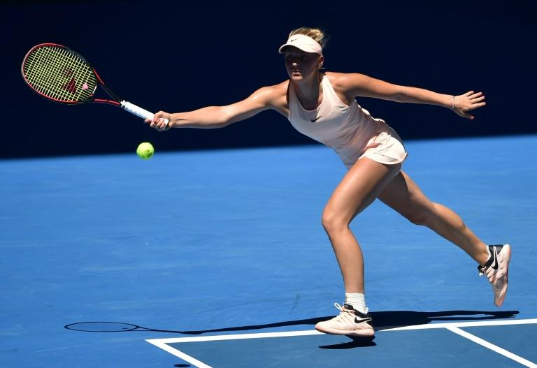 Ukraine's Marta Kostyuk became the youngest woman to reach the third round of the Australian Open since Martina Hingis in 1996, beating local wildcard Olivia Rogowska 6-3, 7-5