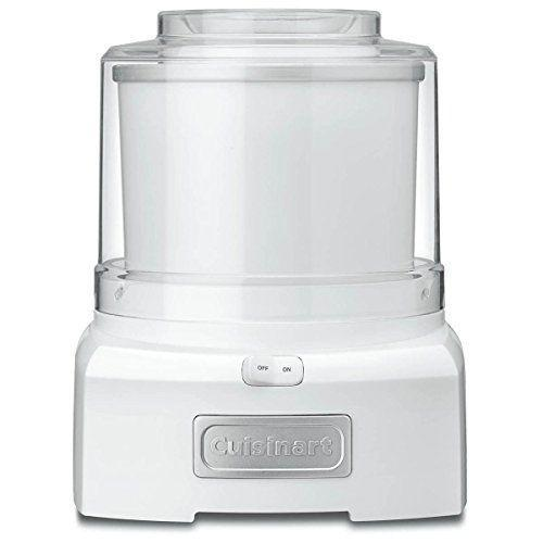 """<p><strong>Cuisinart</strong></p><p>amazon.com</p><p><strong>$69.95</strong></p><p><a href=""""https://www.amazon.com/dp/B003KYSLMW?tag=syn-yahoo-20&ascsubtag=%5Bartid%7C1782.g.31250312%5Bsrc%7Cyahoo-us"""" rel=""""nofollow noopener"""" target=""""_blank"""" data-ylk=""""slk:BUY NOW"""" class=""""link rapid-noclick-resp"""">BUY NOW</a></p><p>For less than $65, you can get add this household name brand machine that makes ice cream, sorbet, and frozen yogurt. Cuisinart's model is one of the top-rated ice cream makers on Amazon, too, with an average rating of 4.5 stars.</p>"""