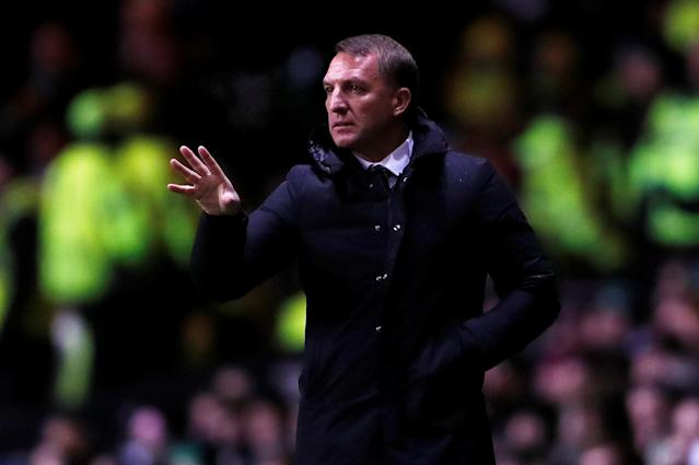 Soccer Football - Europa League Round of 32 First Leg - Celtic vs Zenit Saint Petersburg - Celtic Park, Glasgow, Britain - February 15, 2018 Celtic manager Brendan Rodgers Action Images via Reuters/Lee Smith