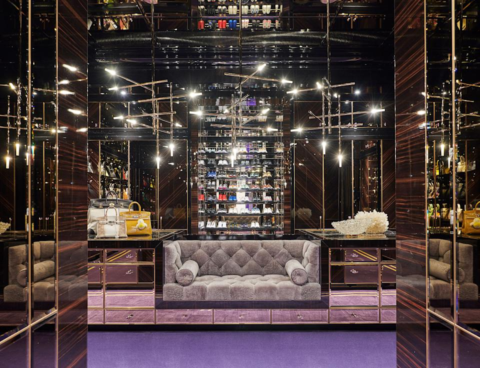 Drake's closet—Birkins at left—at home in Toronto