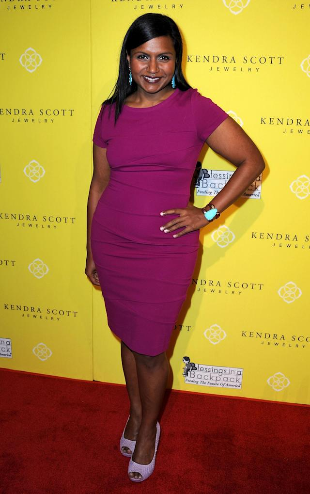 "WEST HOLLYWOOD, CA - AUGUST 10: Actress Mindy Kaling attends the Kendra Scott Jewelry of Beverly Hills Grand Opening benefiting ""Blessings In A Backpack"" on August 10, 2011 in West Hollywood, California. (Photo by Valerie Macon/Getty Images)"