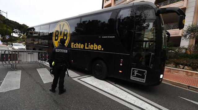MONACO (AP) Borussia Dortmund says French police stopped the team bus leaving the team hotel for 20 minutes before Wednesday's Champions League game against Monacoone week after Dortmund's bus was attacked prior to the home leg.