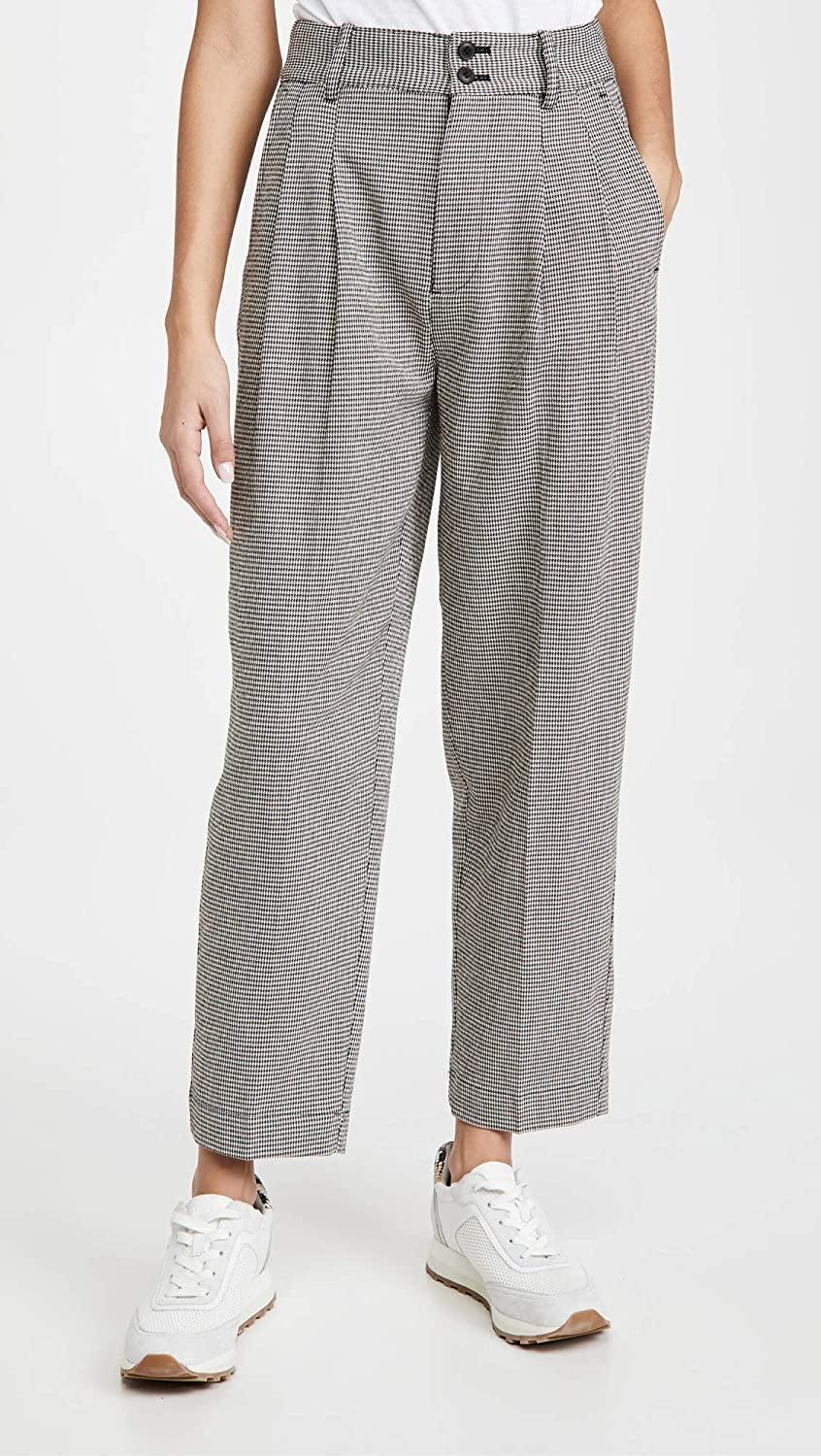 <p>You can dress these <span>Madewell Tapered Pleated Wide Leg Pants</span> ($83) both up and down.</p>