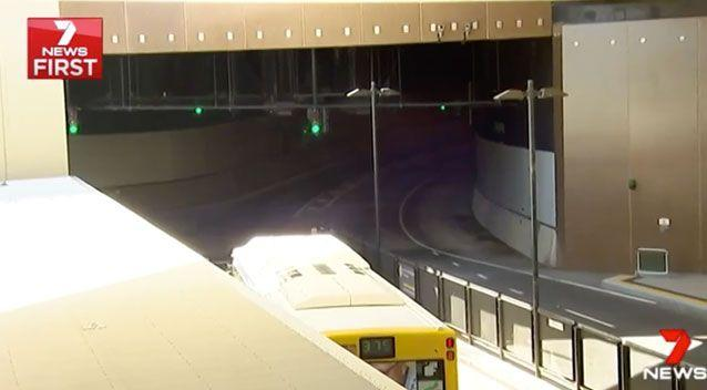 The bus was headed for this tunnel at Lutwyche. Source: 7 News
