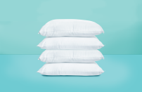 """<p>Waking up with pain or stiffness in your neck is the worst way to start your morning. But, the key to reducing neck pain isn't as simple as just any <a href=""""https://www.goodhousekeeping.com/home-products/pillow-reviews/a19289/best-pillows/"""" rel=""""nofollow noopener"""" target=""""_blank"""" data-ylk=""""slk:new pillow"""" class=""""link rapid-noclick-resp"""">new pillow</a> – it's all about finding the best pillow for your sleeping position. If you suffer from chronic neck pain, you should always discuss the best course of action with your physician, but your old pillow could be contributing to your stiff neck. It might be time to upgrade to a top tested style:</p><ul><li><strong>Best Overall Pillow for Neck Pain:</strong> <a href=""""https://www.amazon.com/dp/B00EINBSEW?tag=syn-yahoo-20&ascsubtag=%5Bartid%7C10055.g.30705146%5Bsrc%7Cyahoo-us"""" rel=""""nofollow noopener"""" target=""""_blank"""" data-ylk=""""slk:Coop Home Goods Adjustable Loft Pillow"""" class=""""link rapid-noclick-resp"""">Coop Home Goods Adjustable Loft Pillow</a></li><li><strong>Best Value Pillow for Neck Pain</strong>: <a href=""""https://go.redirectingat.com?id=74968X1596630&url=https%3A%2F%2Fwww.homedepot.com%2Fp%2FHome-Decorators-Collection-Medium-Firm-Down-Alternative-Jumbo-Pillow-HOM500PI10WBPJ%2F308510130%3Fmtc%3DSEM-BA-F_HDH-AMP-D59-59_34_INTERIOR_FURNITURE-Multi-NA-NA-Multi-NA-NA%26cm_mmc%3DSEM-BA-F_HDH-AMP-D59-59_34_INTERIOR_FURNITURE-Multi-NA-NA-Multi-NA-NA_amp1617743712010300001%26gclid%3DCO64zfrE6u8CFQnstQodYr8Ekw%26gclsrc%3Dds&sref=https%3A%2F%2Fwww.goodhousekeeping.com%2Fhome-products%2Fpillow-reviews%2Fg30705146%2Fbest-pillows-for-neck-pain%2F"""" rel=""""nofollow noopener"""" target=""""_blank"""" data-ylk=""""slk:Home Decorators Medium/Firm Down Alternative Pillow"""" class=""""link rapid-noclick-resp"""">Home Decorators Medium/Firm Down Alternative Pillow</a></li><li><strong>Best Pillow for Side Sleepers with Neck Pain: </strong><a href=""""https://go.redirectingat.com?id=74968X1596630&url=https%3A%2F%2Fwww.tempurpedic.com%2Fshop-pillows%2Ftempur-breeze-pr"""