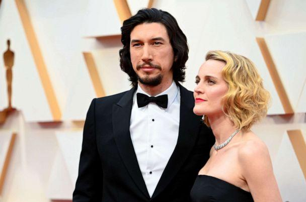 PHOTO: Adam Driver and wife Joanne Tucker attend the 92nd annual Academy Awards, Feb. 9, 2020, in Hollywood, Calif. (Robyn Beck/AFP via Getty Images)