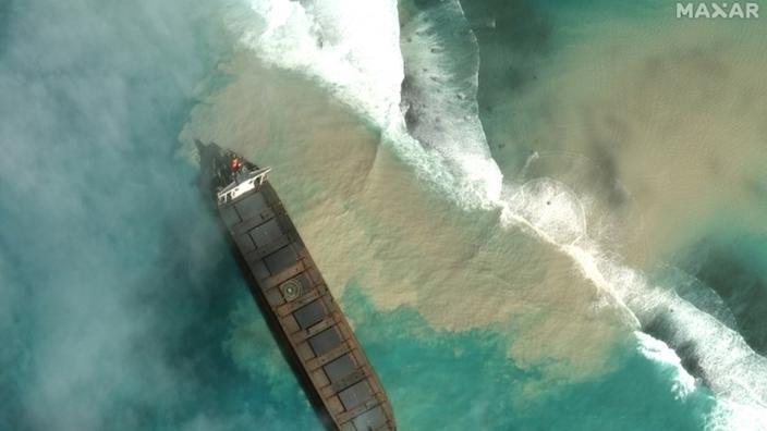 Mauritius declares environmental emergency as grounded ship leaks large amounts of oil