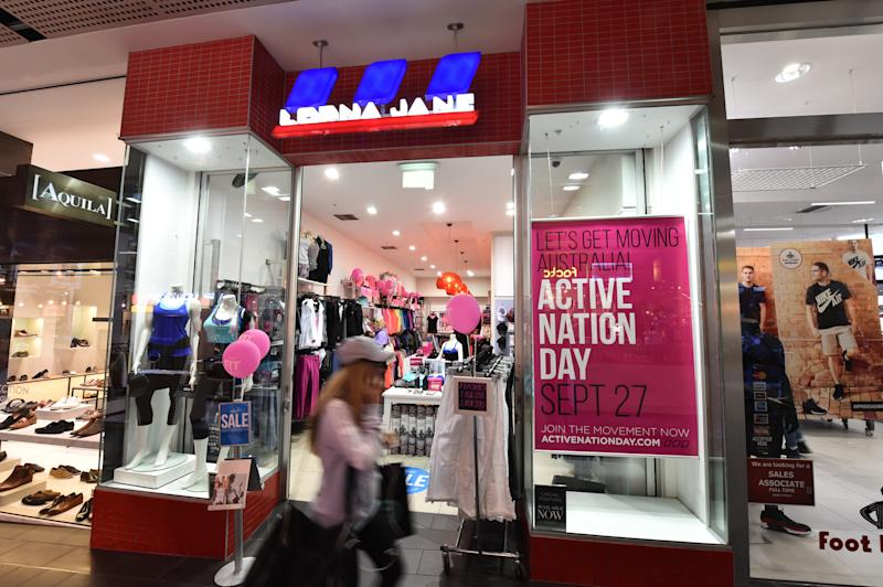 A Lorna Jane store is seen at Melbourne Central in Melbourne. Source: AAP