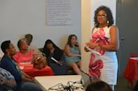 Beverly Wright, executive director of the Deep South Center for Environmental Justice, speaks Saturday, Aug. 12, 2017, during the Unity in the Family Ministry Environmental Justice Forum at All Faith Community Church.