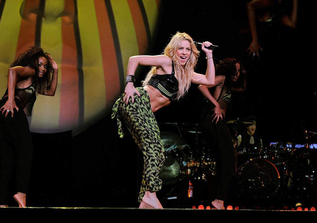 """The blond bombshell -- who's known for her humanitarian work -- also cut loose with covers of EMF's """"Unbelievable"""" and Metallica's """"Nothing Else Matters."""" Larry Busacca/<a href=""""http://www.gettyimages.com/"""" target=""""new"""">GettyImages.com</a> - September 21, 2010"""