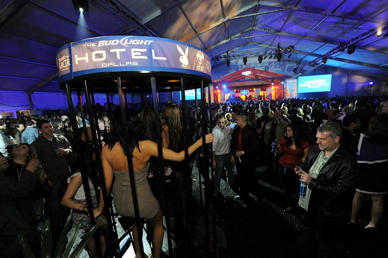 DALLAS, TX - FEBRUARY 05: General view of atmosphere at the Bud Light Hotel event with performances by Nelly, Ke$ha and Pitbull on February 5, 2011 in Dallas, Texas. (Photo by Jordan Strauss/Getty Images for Bud Light)