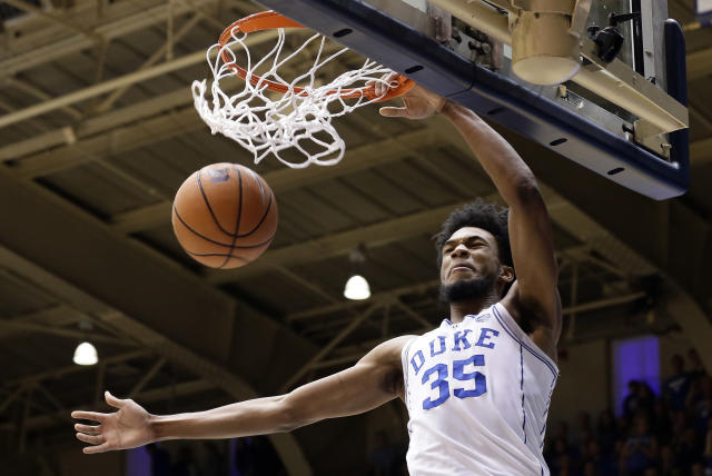 Marvin Bagley III is at risk of violating an NCAA bylaw because someone stole his likeness. (AP)