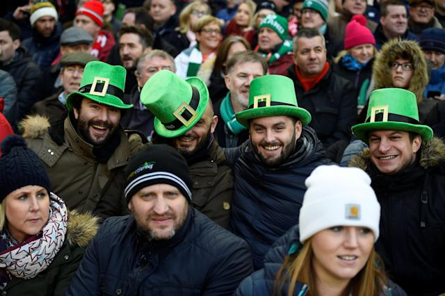 Rugby Union - Six Nations Championship - Ireland vs Wales - Aviva Stadium, Dublin, Republic of Ireland - February 24, 2018 Ireland fans during the match REUTERS/Clodagh Kilcoyne
