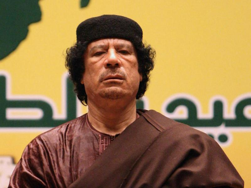 Colonel Gaddafi was deposed in 2011, four years after the missile deal was signed (AFP/Getty)