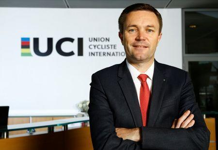FILE PHOTO -Newly elected President of International Cycling Union (UCI) David Lappartient poses in the Federation headquarters in Aigle, Switzerland September 27, 2017. REUTERS/Denis Balibouse