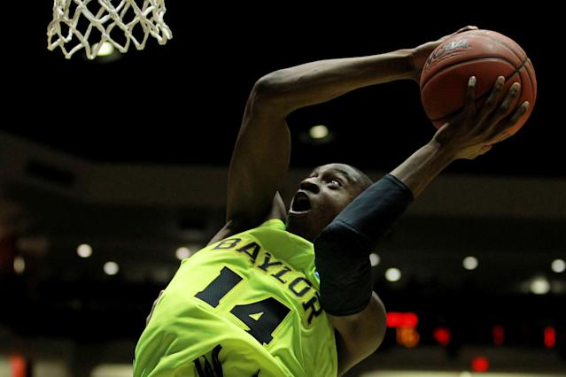 ALBUQUERQUE, NM - MARCH 17: Deuce Bello #14 of the Baylor Bears shoots against the Colorado Buffaloes in the first half during the third round of the 2012 NCAA Men's Basketball Tournament at The Pit on March 17, 2012 in Albuquerque, New Mexico. (Photo by Ronald Martinez/Getty Images)