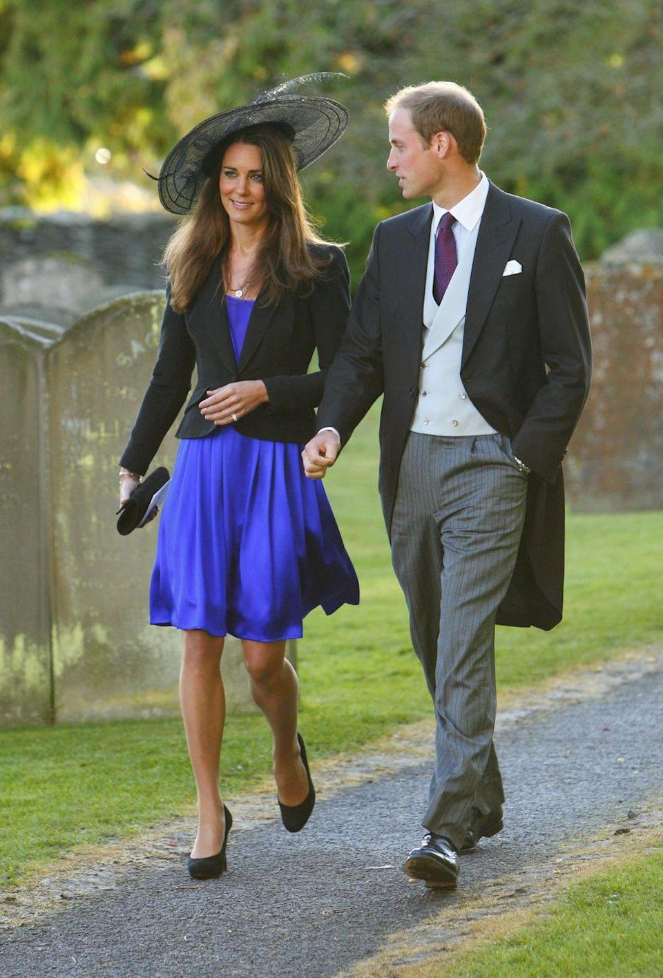 <p>Kate and William enjoyed the wedding of their friends Harry Mead and Rosie Bradford in a small village in Gloucestershire. At this point in their relationship, Kate had moved into a cottage in Anglesey with William.</p>