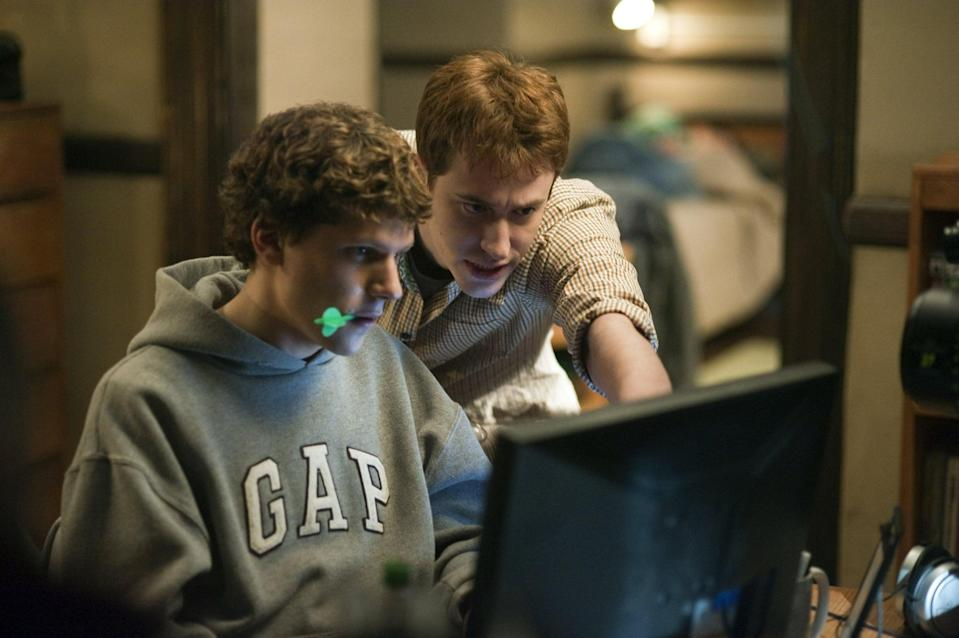 """<p>In this biographical drama, college student and computer genius Mark Zuckerberg builds a social network from his dorm room that takes the Harvard community by storm and eventually turns into Facebook.</p> <p><a href=""""https://www.netflix.com/search?q=the%20social%20network&amp;jbv=70132721"""" class=""""link rapid-noclick-resp"""" rel=""""nofollow noopener"""" target=""""_blank"""" data-ylk=""""slk:Watch The Social Network on Netflix"""">Watch <strong>The Social Network</strong> on Netflix</a>.</p>"""