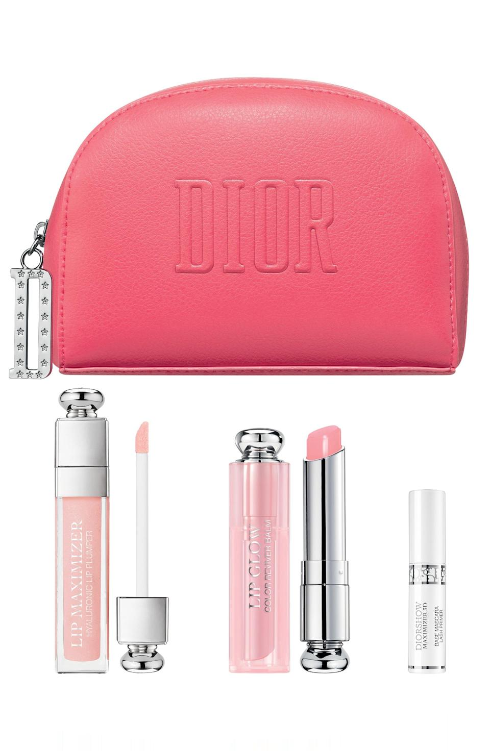 """<p><strong>DIOR</strong></p><p>nordstrom.com</p><p><strong>$68.00</strong></p><p><a href=""""https://go.redirectingat.com?id=74968X1596630&url=https%3A%2F%2Fwww.nordstrom.com%2Fs%2Fdior-professional-maximizing-lips-eyes-set%2F5586864&sref=https%3A%2F%2Fwww.harpersbazaar.com%2Fbeauty%2Fg33481900%2Fnordstrom-anniversary-sale-2020-best-beauty-makeup-deals%2F"""" rel=""""nofollow noopener"""" target=""""_blank"""" data-ylk=""""slk:SHOP NOW"""" class=""""link rapid-noclick-resp"""">SHOP NOW</a></p><p><strong>Sale: $68</strong></p><p>Value: $88</p><p>This Nordstrom exclusive set includes Dior Beauty's plumping Lip Maximizer gloss, Lip Glow (a lip balm so legendary that <a href=""""https://www.harpersbazaar.com/beauty/makeup/g20757840/shop-meghan-markle-wedding-makeup/"""" rel=""""nofollow noopener"""" target=""""_blank"""" data-ylk=""""slk:Meghan Markle"""" class=""""link rapid-noclick-resp"""">Meghan Markle</a> even wore the coral shade on her wedding day) and a mini-sized plumping eyelash primer. PS: You're forgiven if you want to use this eye candy of a pouch as a wallet as well. </p>"""