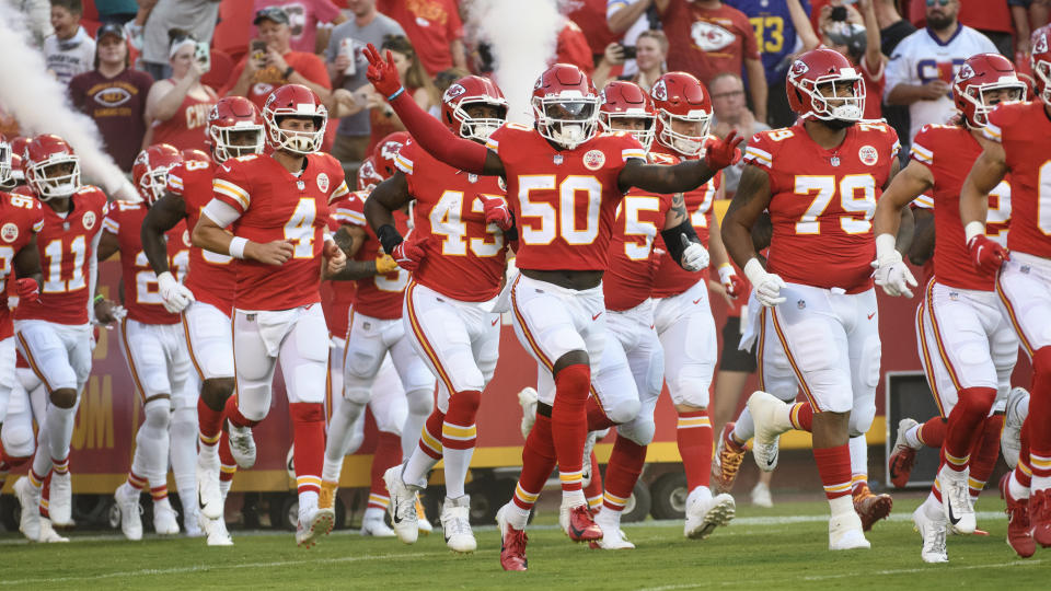The Chiefs are favored to win their second Super Bowl in three years. (AP Photo/Reed Hoffmann)