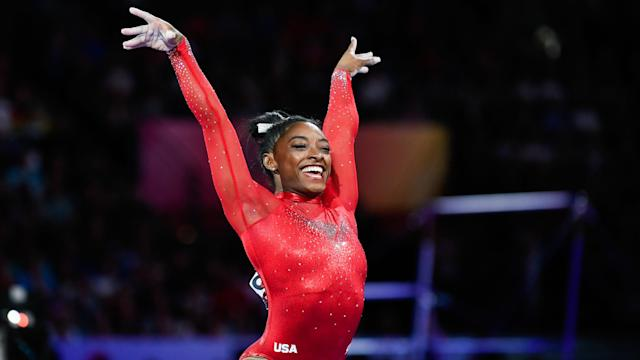 Simone Biles impresses on vault in apparatus final at worlds