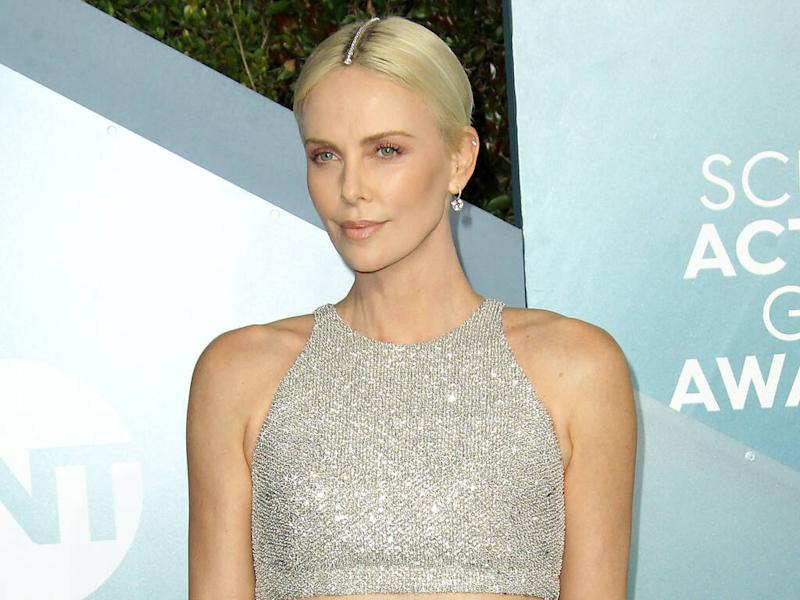 Charlize Theron wears diamond bracelet in her hair to 2020 SAG Awards