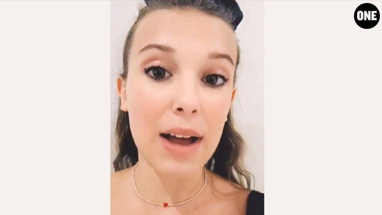 Millie Bobby Brown is handing over her Instagram account for one day. (Pass The Mic/ONE Campaign)