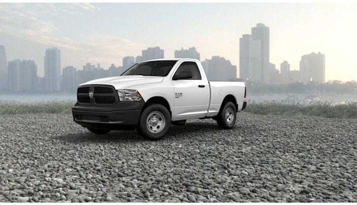 "<p><strong>Configuration: </strong>Tradesman trim level, regular cab, 4x2</p><p>The cheapest new Ram pickup you can buy is not really all that new. What Ram calls the <a href=""https://www.caranddriver.com/news/a21947856/outgoing-ram-1500-to-be-sold-as-classic-2019-model/"" rel=""nofollow noopener"" target=""_blank"" data-ylk=""slk:1500 Classic"" class=""link rapid-noclick-resp"">1500 Classic</a> is the previous-generation truck that FCA is still building and sending out to dealerships and fleet customers. While it's not as snazzy as the newer-generation Ram that debuted for 2019, it is a decent value and offers lower-priced models such as the regular-cab Tradesman model you see here.</p>"